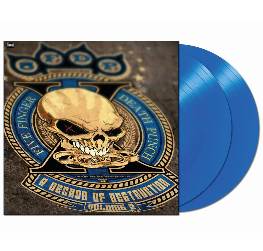 Five Finger Death Punch - A Decade Of Destruction Vol. 2 Exclusive Blue 2LP Vinyl Album Record