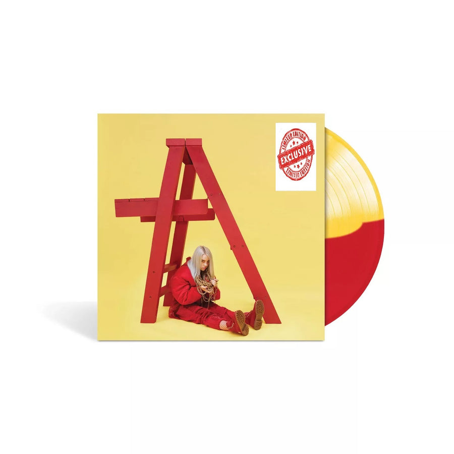 Billie Eilish - Don'T Smile At Me Exclusive Yellow & Red Split Vinyl LP Record
