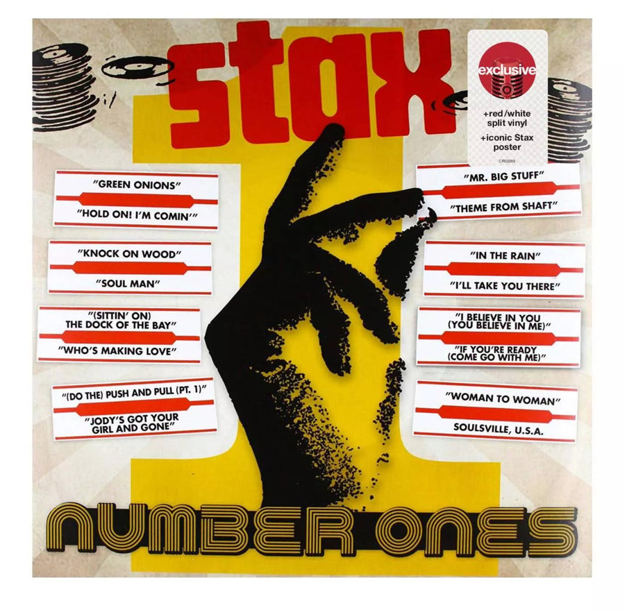 Various Artists - Stax Number Ones Exclusive Red/White Split Vinyl + Iconic Stax Poster