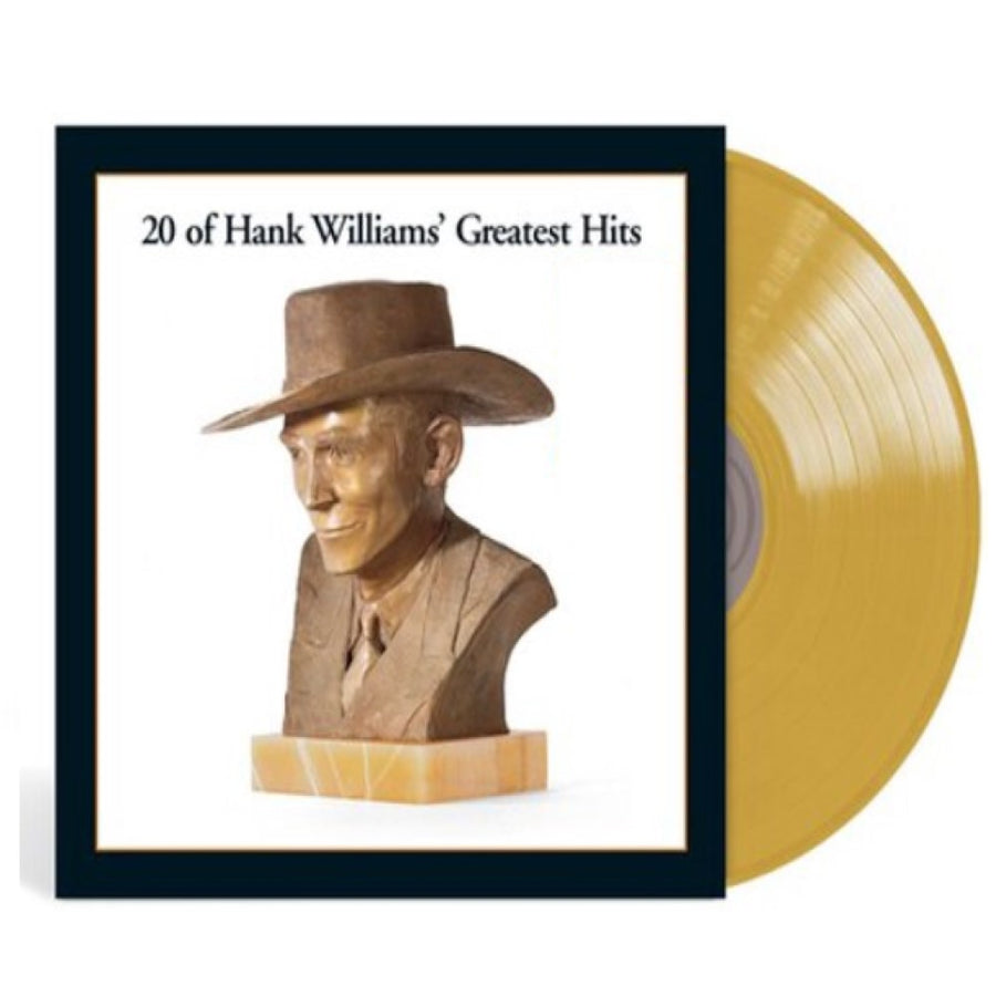 Hank Williams - 20 Greatest Hits Exclusive Gold Color Vinyl LP Record