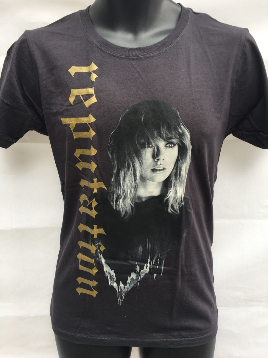 Taylor Swift Reputation Tour Gold T-shirt M