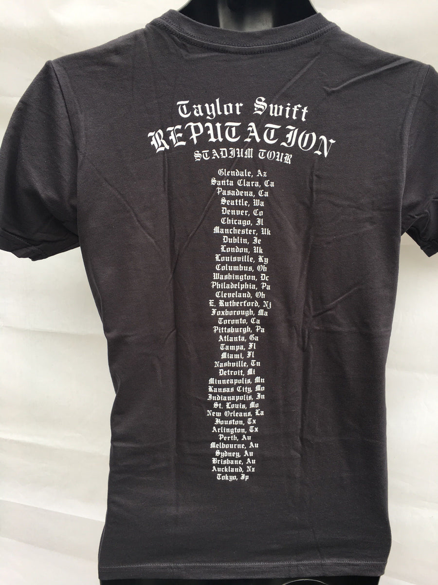 Taylor Swift Reputation Tour Gold T-shirt Y-Med