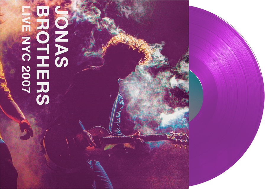Jonas Brothers - Live NYC 2007 - Exclusive Limited Edition Translucent Purple Colored Vinyl LP Club Edition