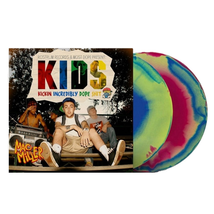 Mac Miller - K.I.D.S. Exclusive Red, Blue And Yellow Swirled Vinyl Album 2LP Record