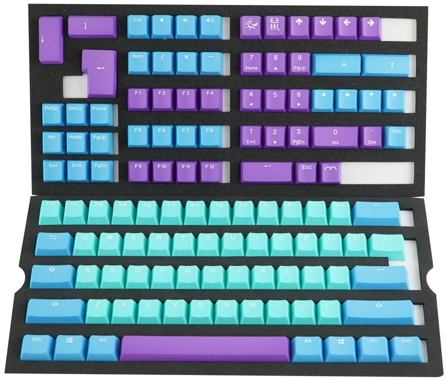Mk X Ducky Frozen Llama 108+11 Pbt Seamless Double Shot Keycap Set [Key Caps Only]