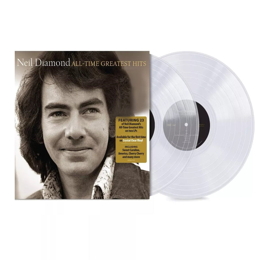 Neil Diamond - All Time Greatest Hits Exclusive 2LP Crystal Clear Vinyl Album Limited Edition