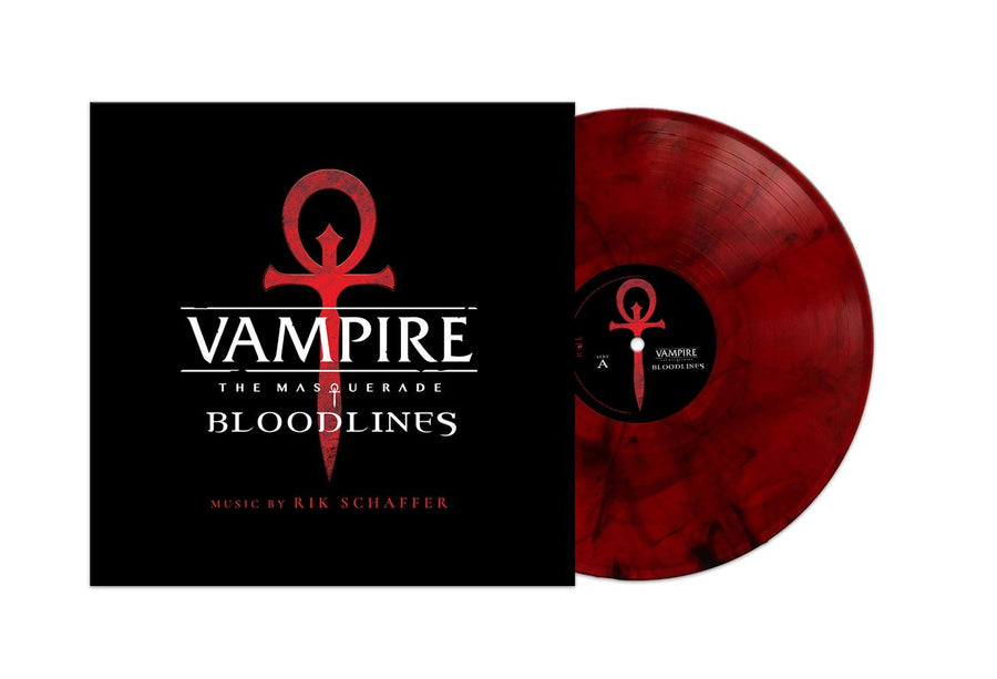Rik Schaffer - Vampire The Masquerade Bloodlines Original Soundtrack Exclusive Transparent Red/Black Smoke Vinyl [2LP_Record]