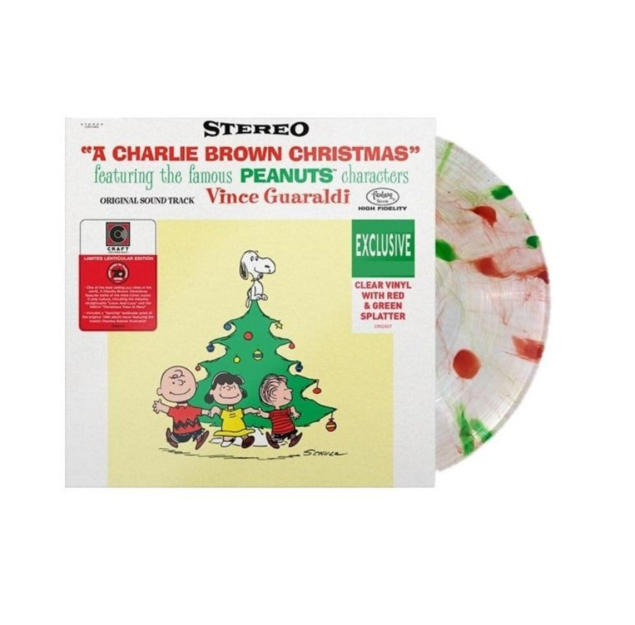 Vince Guaraldi Trio - A Charlie Brown Christmas Limited Edition Red And Green Splattered Clear Vinyl [LP_Record]