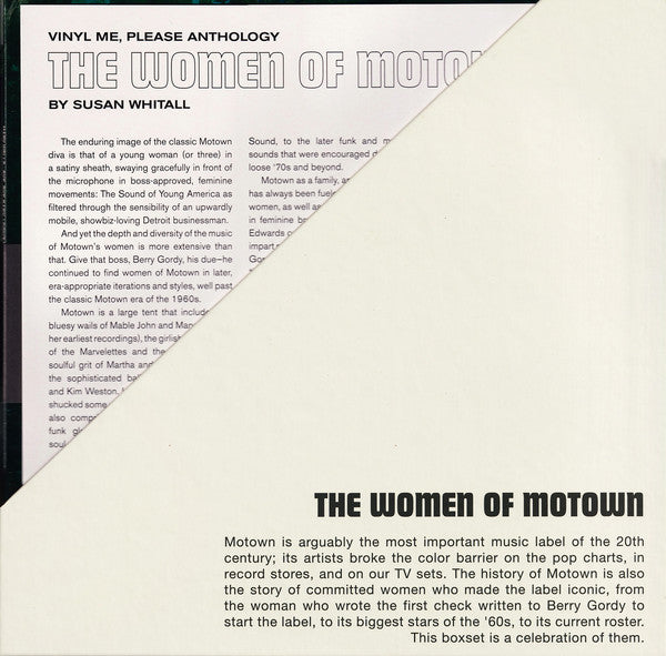 The Women Of Motown - Exclusive Limited Edition 9x 180 Gram Vinyl LP Box Set (8 Liner Note Prints Included)