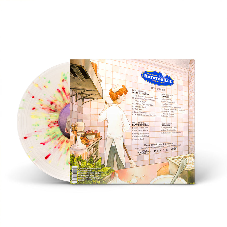 Michael Giacchino ‎– Ratatouille (Original Motion Picture Soundtrack) 2LP Yellow and Red Swirl Vinyl