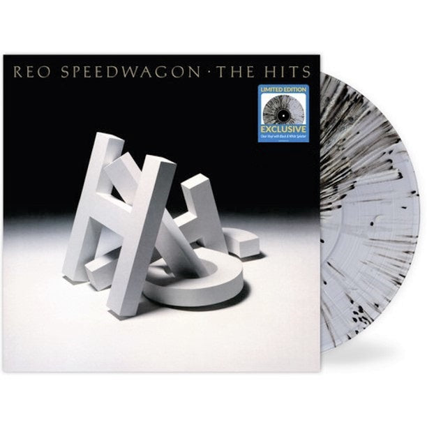 Reo Speedwagon - The Hits Exclusive Clear Black & White Splatter Vinyl Album Limited Edition LP Record