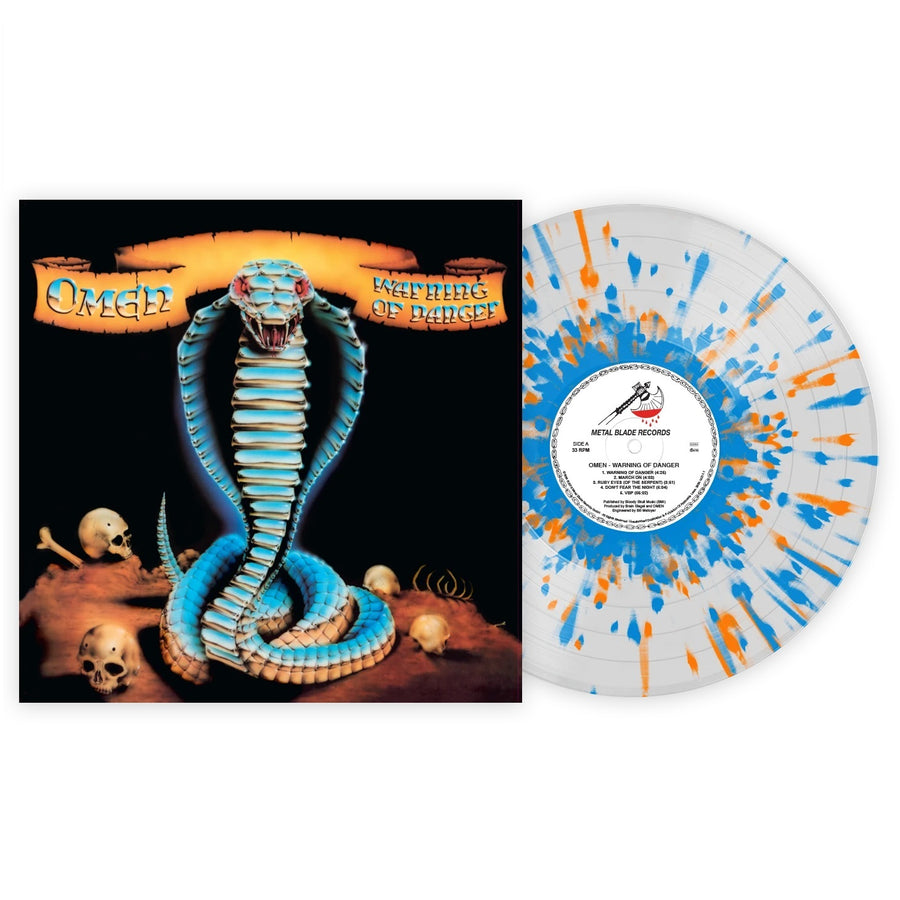 Omen - Warning of Danger Exclusive orange & Blue Splatter with Clear LP Vinyl [VMP Anthology]