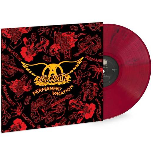 Aerosmith - Permanent Vacation Exclusive Limited Edition Marbled Red Vinyl [LP_Record]