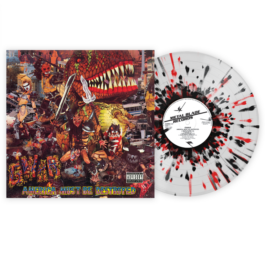 Gwar - America Must Be Destroyed Exclusive Red & Black Splatter with Clear LP Vinyl [VMP Anthology]