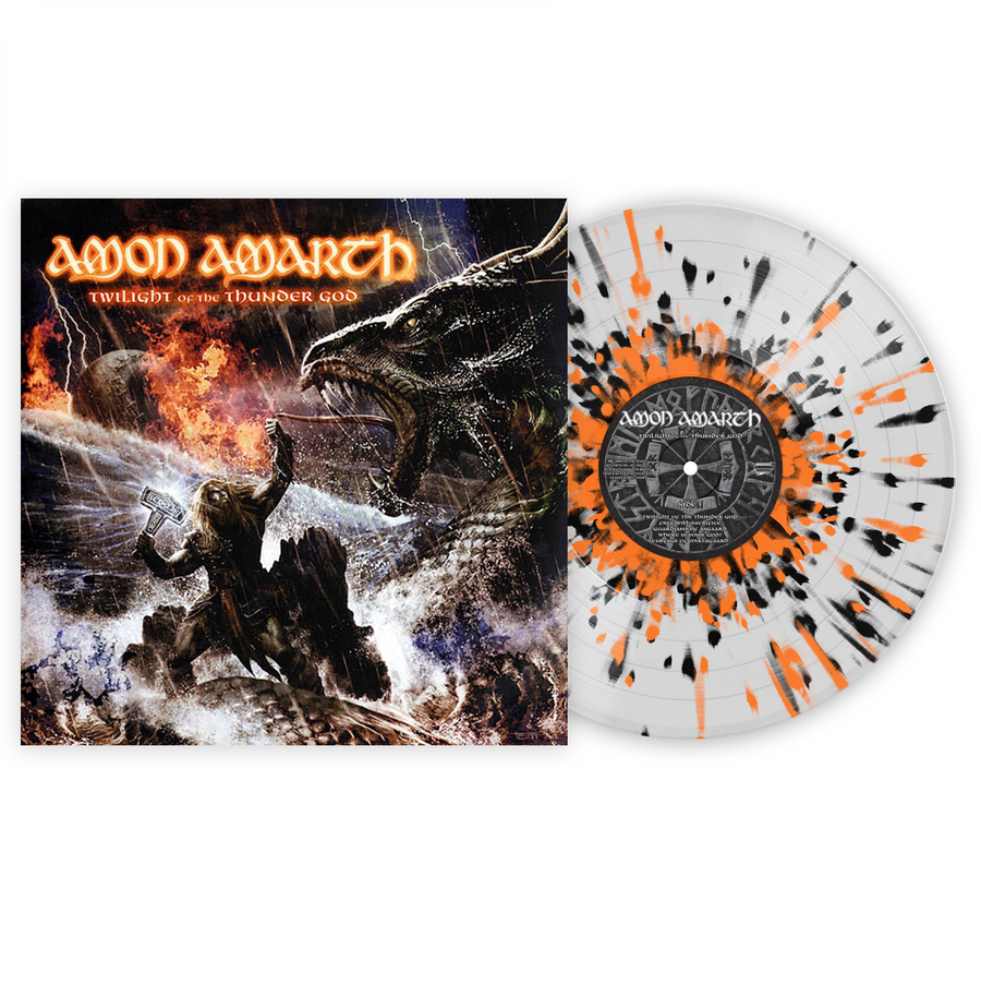 Amon Amarth - Twilight of the Thunder God Exclusive Black & Orange Splatter with Clear LP Vinyl [VMP Anthology]
