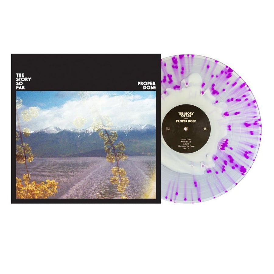 The Story So Far - Proper Dose White In Clear W/ Purple Splatter LP Vinyl Record Limited Edition# 2000