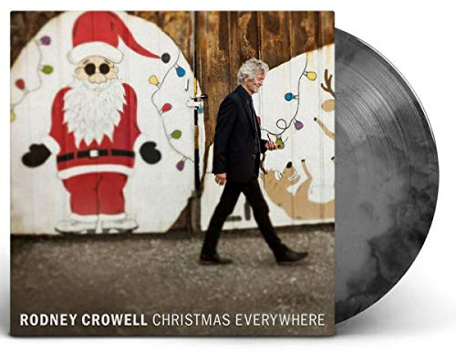 Rodney Crowell - Christmas Everywhere Exclusive Autographed Edition Coal Colored Vinyl VG+