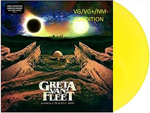 Greta Van Fleet - Anthem Of The Peaceful Army Limited Edition LP Translucent Yellow Vinyl [VG+/NM- Condition]