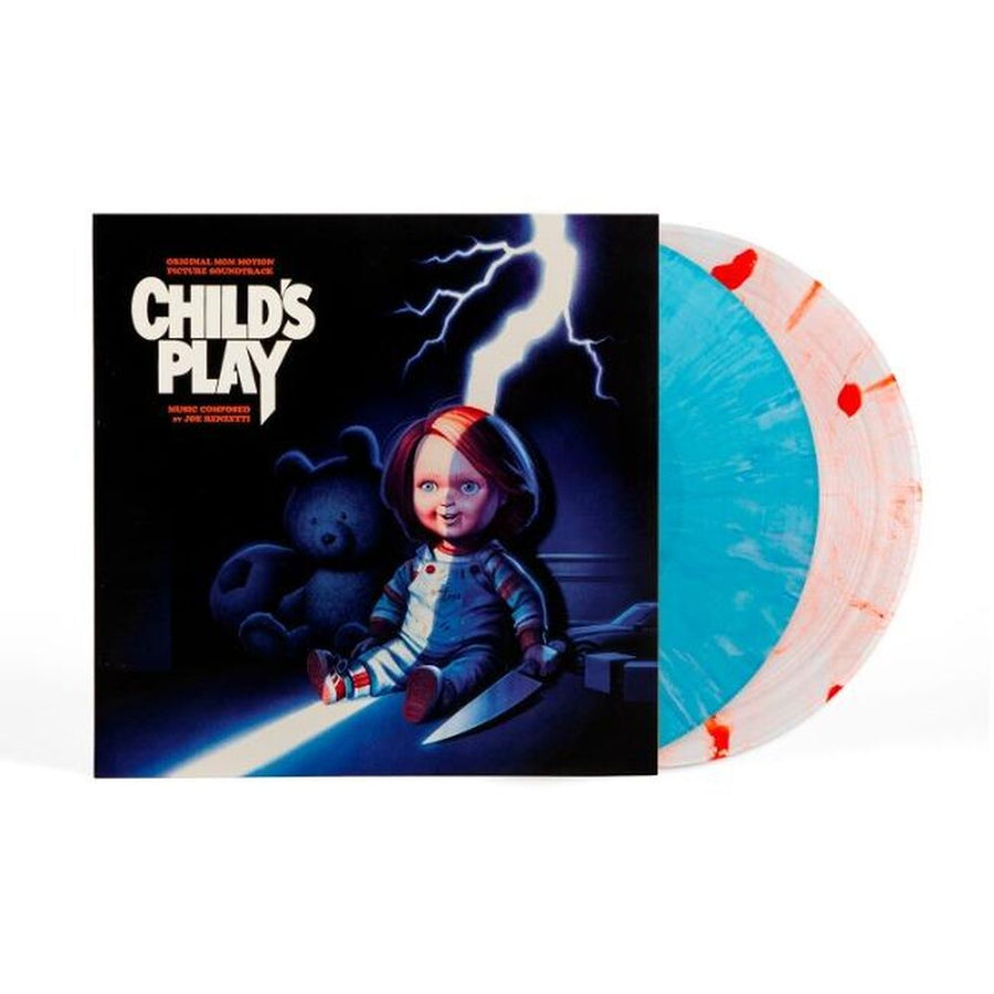 Joe Renzetti - Child's Play Original OST Exclusive 2LP Vinyl White and Blood Splatter [Condition-VG+NM]