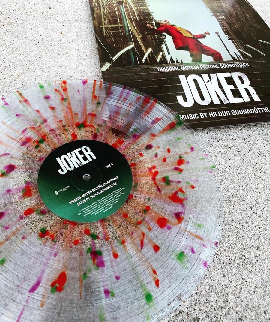 HilduGuðnadóttir - Joker Original Movie Soundtrack Exclusive Color Splatter on Clear Vinyl [VG+/NM]