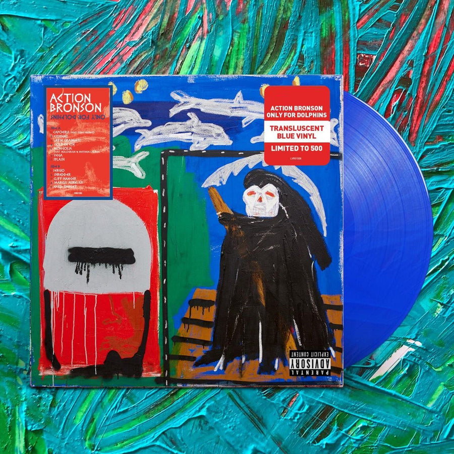 Action Bronson - Only For Dolphins Exclusive Translucent Blue Colored Vinyl Album LP_Record.