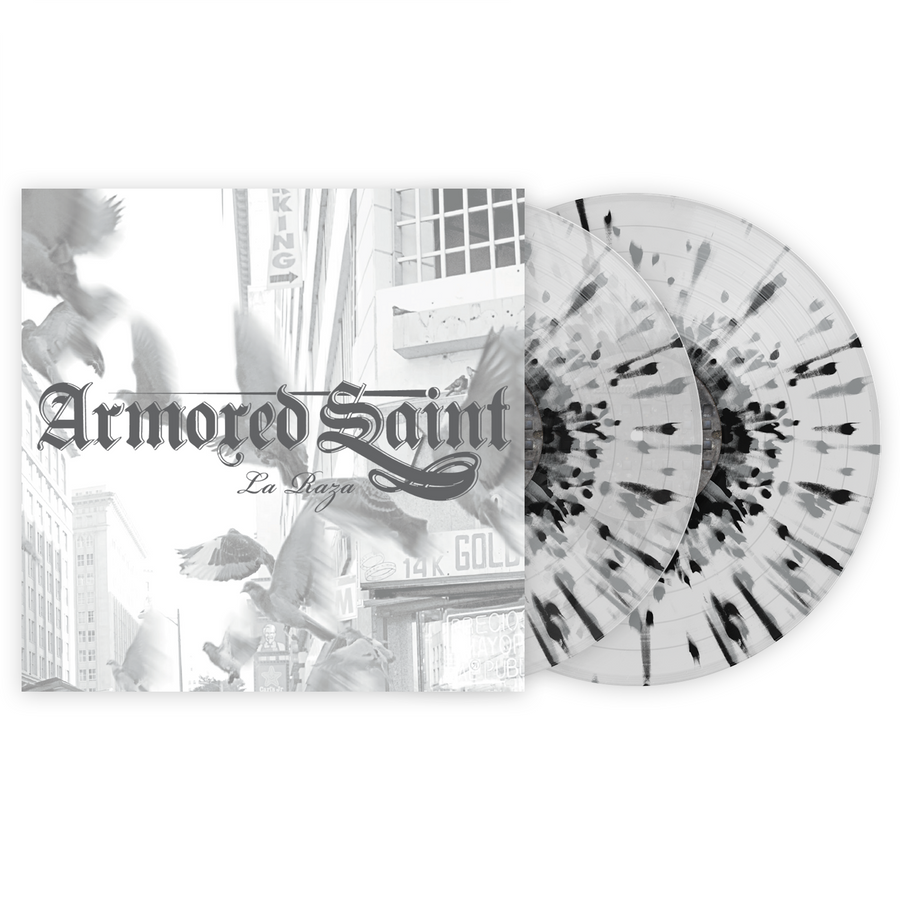 Armored Saint - La Raza Exclusive Black & Grey Splatter with Clear 2xLP Vinyl [VMP Anthology]