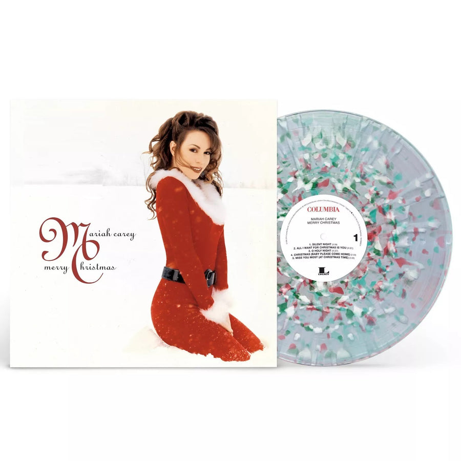 Mariah Carey - Merry Christmas Clear Vinyl with White, Red and Green Splatter Vinyl LP_Record