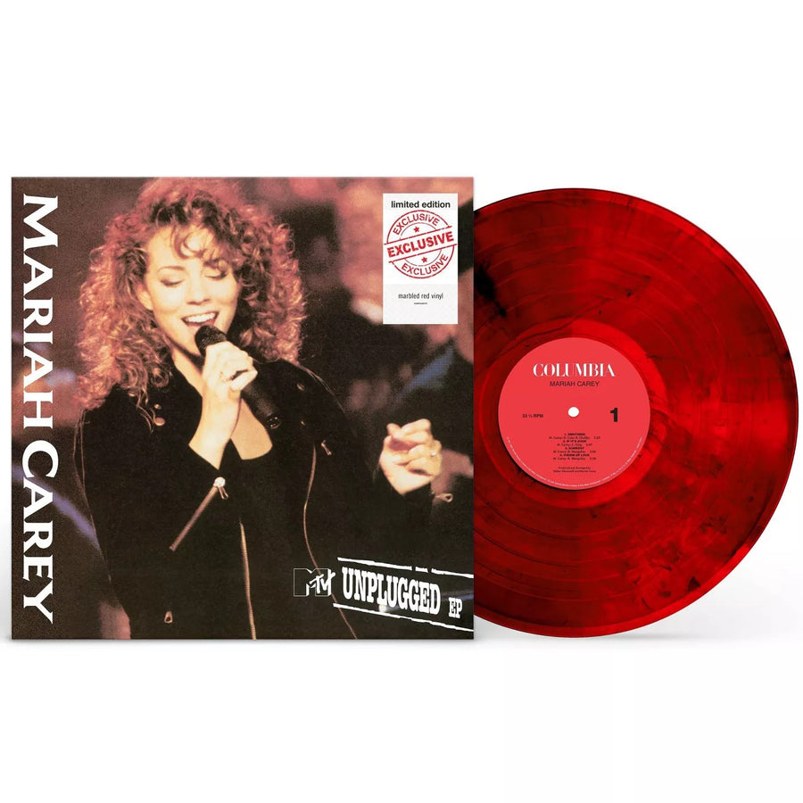 Mariah Carey - MTV Unplugged Exclusive Marbled Red Vinyl Album LP_Record