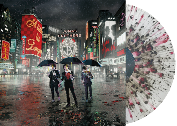 A Little Bit Longer - Exclusive Jonas Brothers Vinyl Club Edition Clear With Black And Red Splatter Colored Vinyl LP