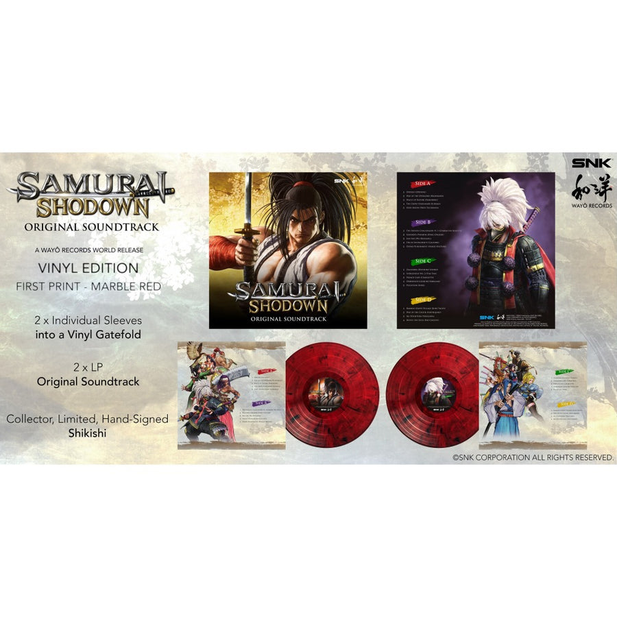 Samurai Shodown Original Soundtrack Limited 2LP Red Marble Vinyl Edition!