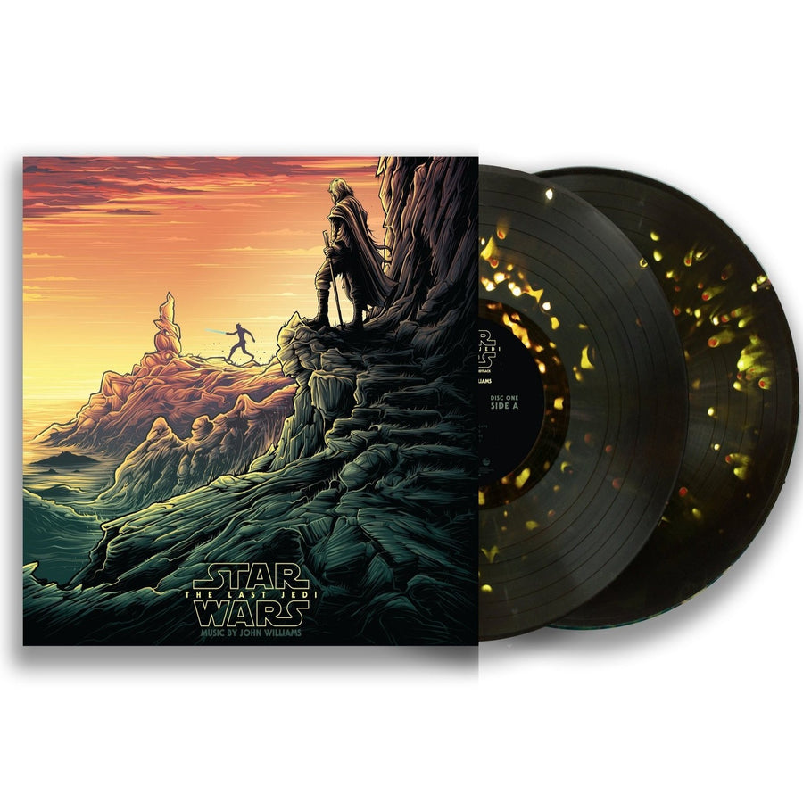 Star Wars: The Last Jedi (Original Motion Picture Soundtrack) Dark Green w/ Red & Gold Splatter, Collector's Edition  Luke & Rey Variant