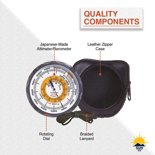 Battery-Free Analog Altimeter//Barometer Sun Company Altimeter 202