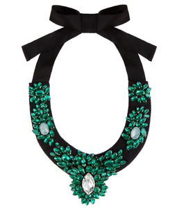 Emerald Green Statement Collar Necklace