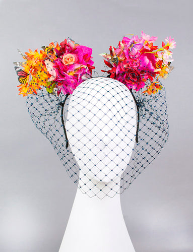 Floral Mouse Ear Fascinator