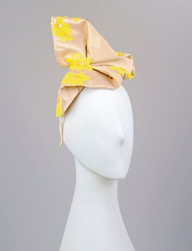 Champagne Silk Headpiece