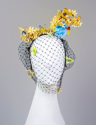 Asymmetric Floral Fascinator