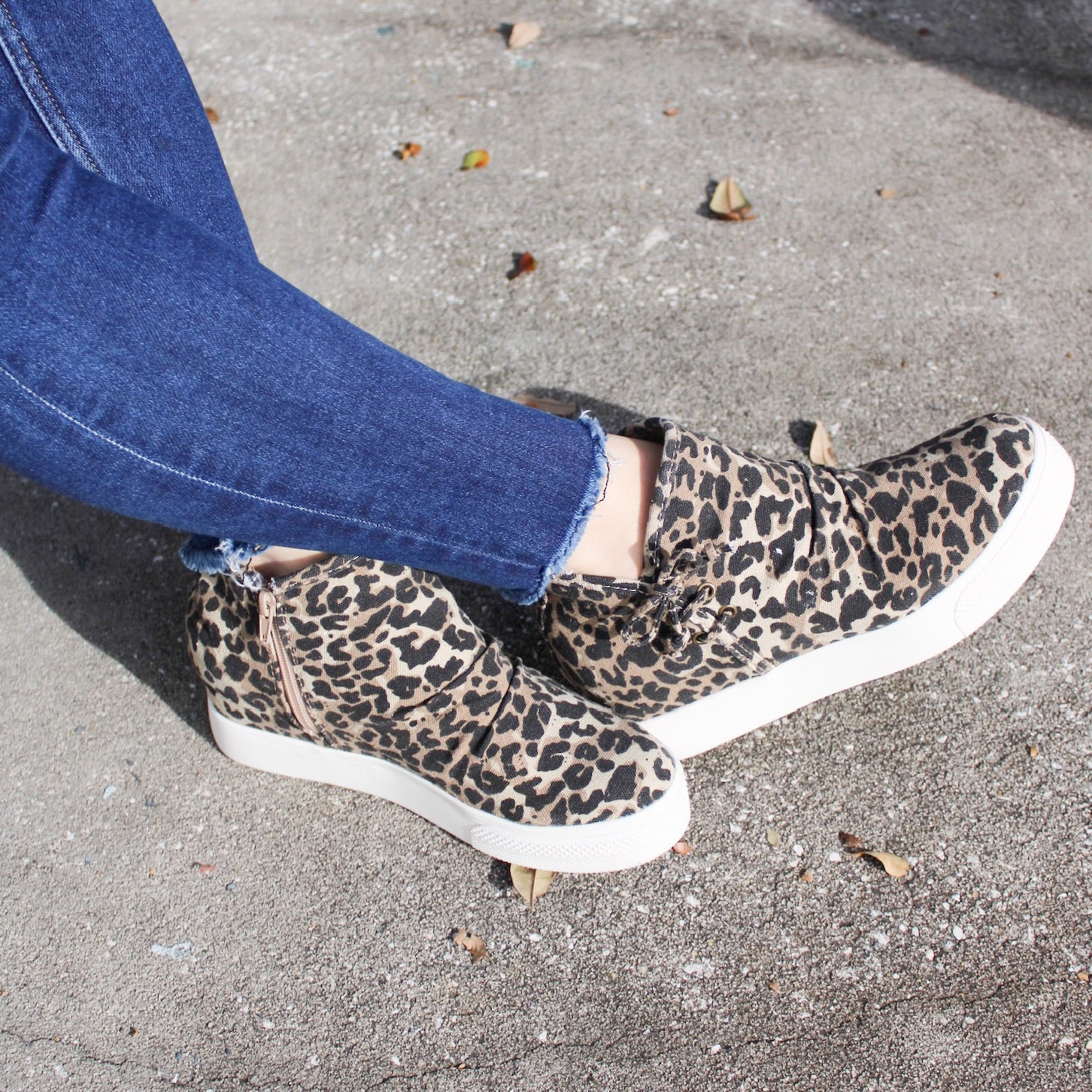 Leopard Angela Wedge Shoes