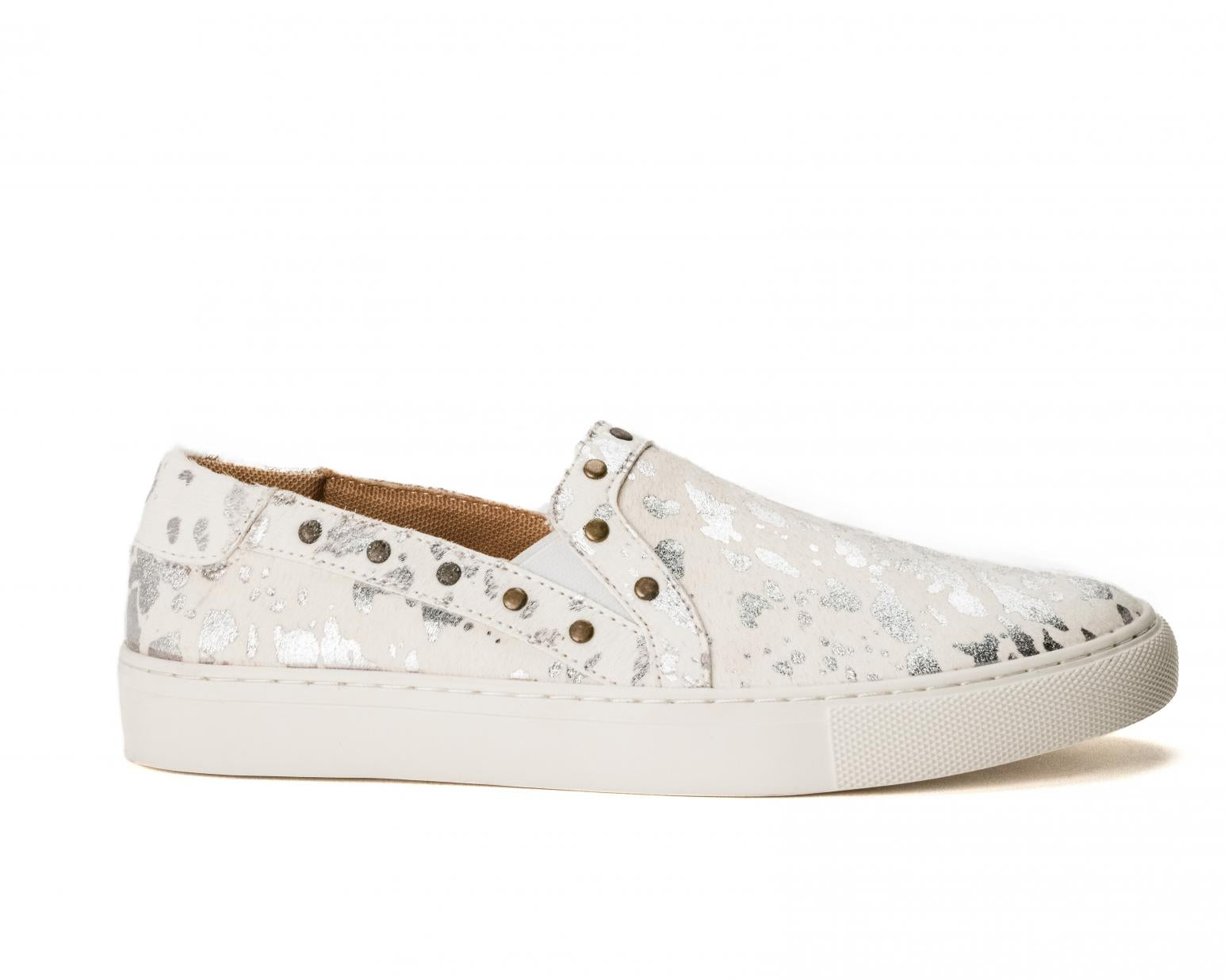 White Silver Pine Top Shoes
