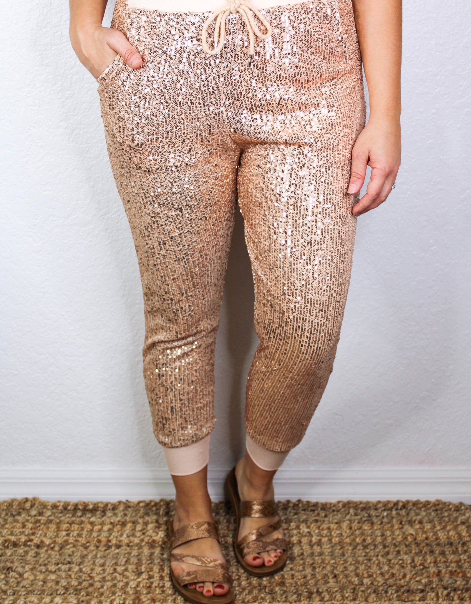 Almost Famous Sequin Joggers