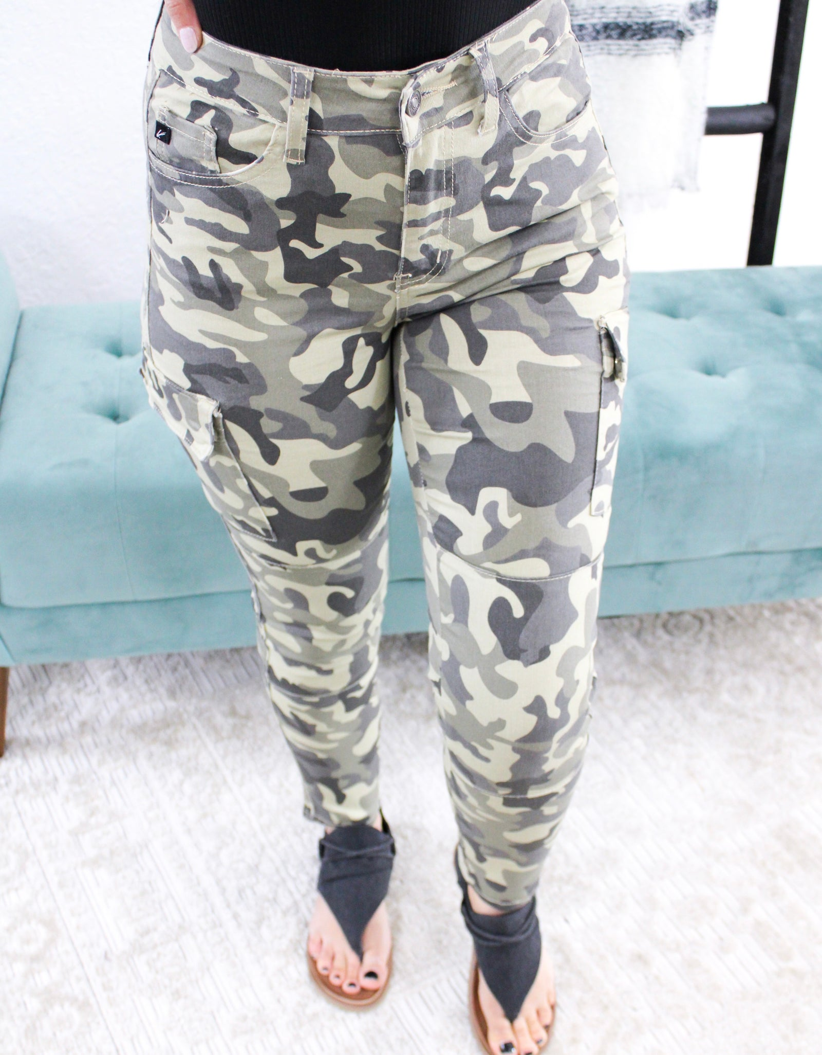 Kancan Cropped Camo Pants