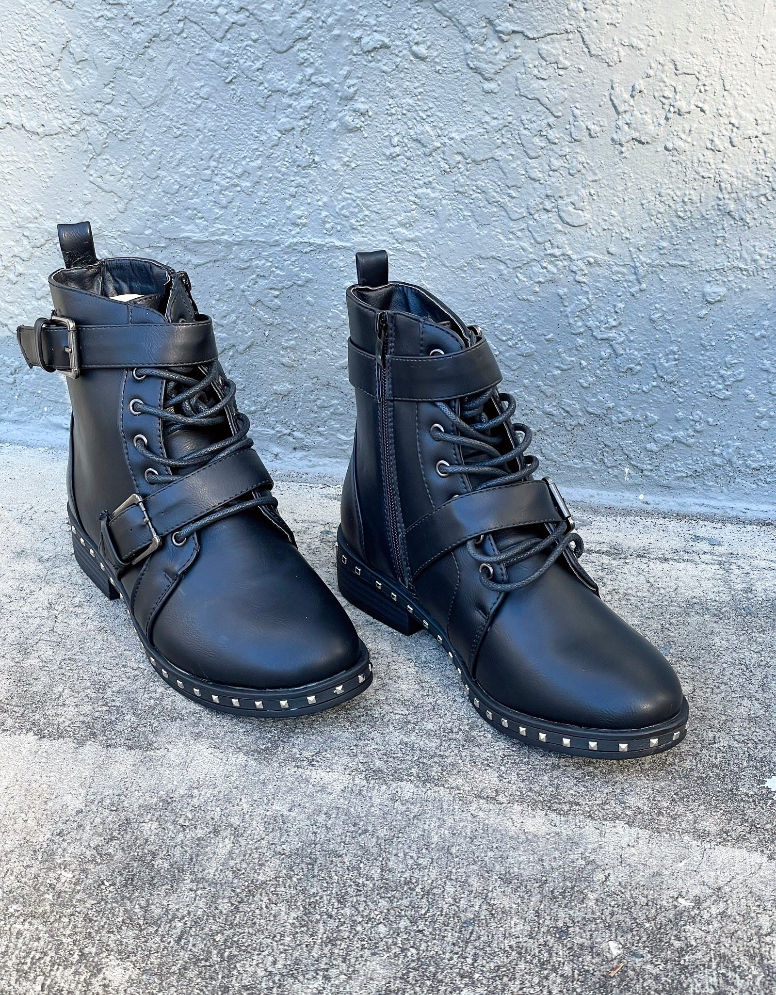 Vesper Studded Lace Up Booties