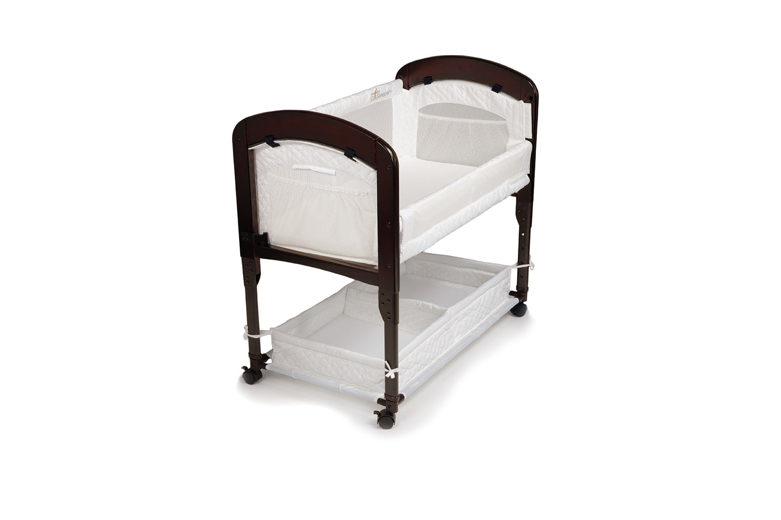 Arm's Reach Cambria Co-Sleeper Bassinet espresso white