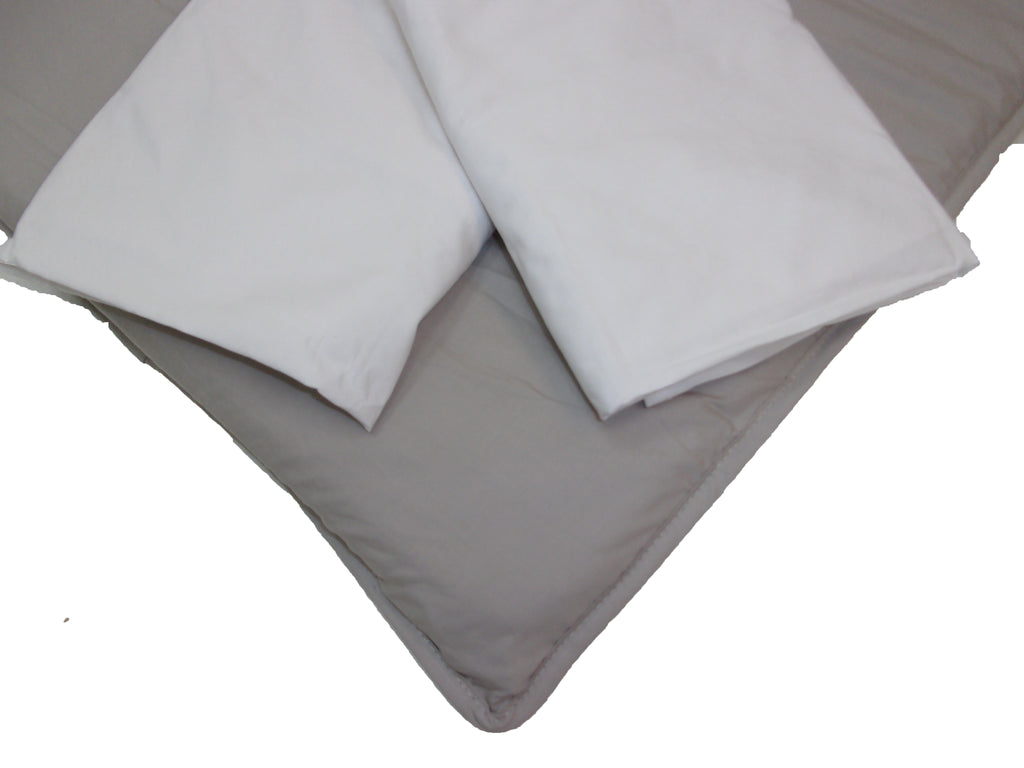 BUNDLE - (SAVE!) THREE FITTED SHEET (Grey/White)