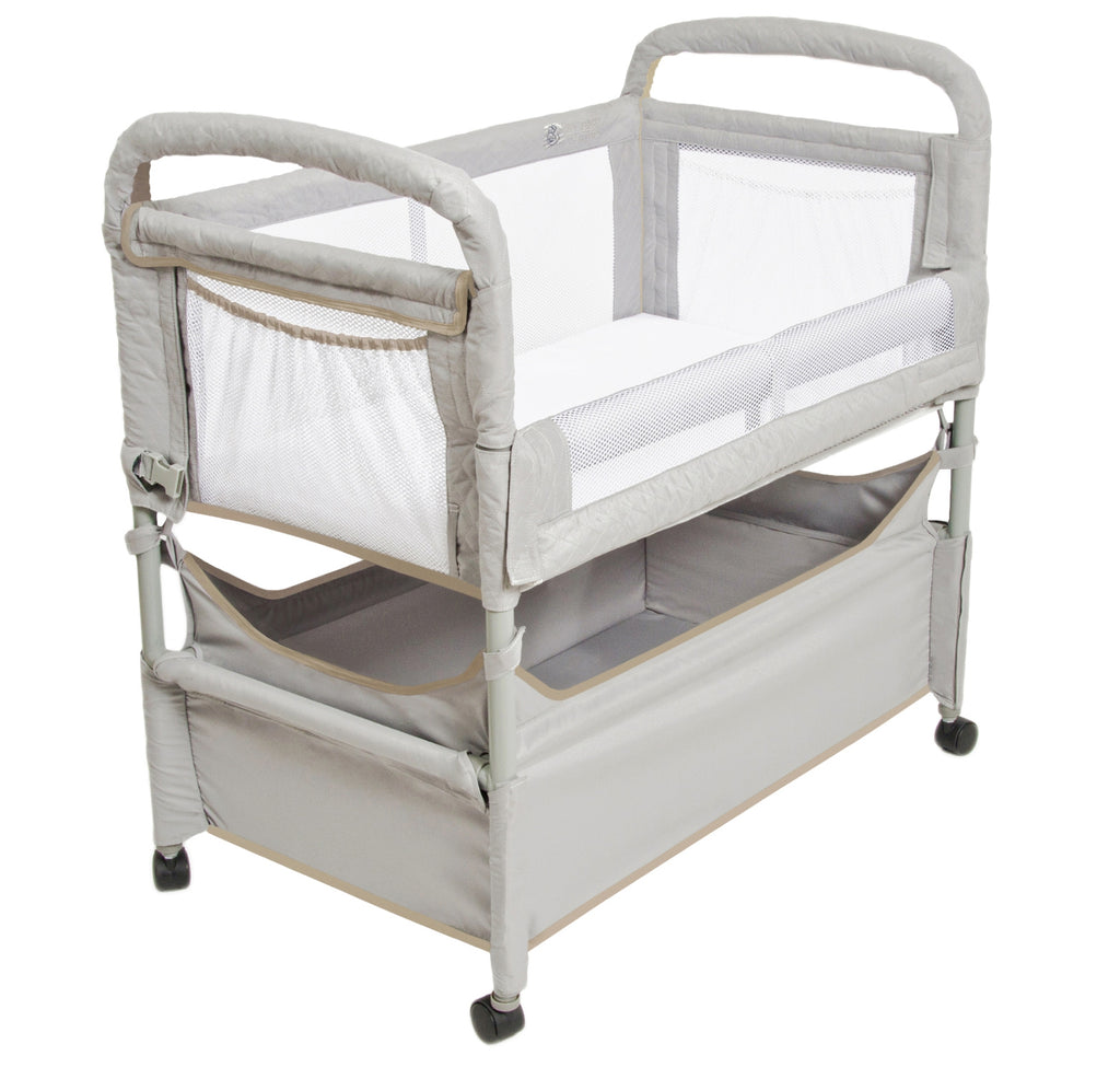 Arm's Reach Clear-Vue Co-sleeper bassinet grey