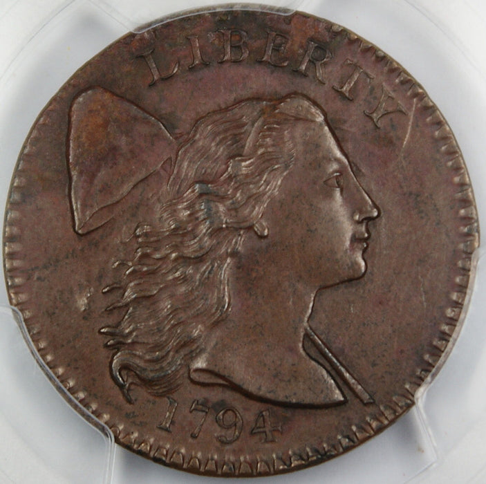1794 Flowing Hair Large Cent PCGS AU Details Head of 1794 Great Coin