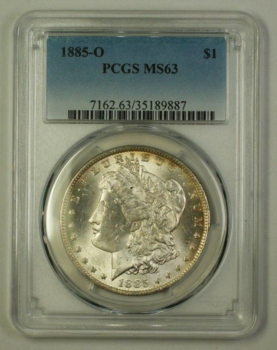 1885-O US Morgan Silver Dollar Coin $1 PCGS MS-63 (A) (18)