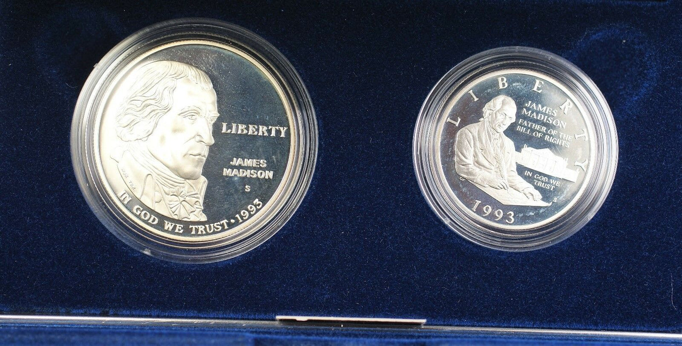 1993-S Bill of Rights Commemorative Proof Dollar $ and Half Coin Set in OGP