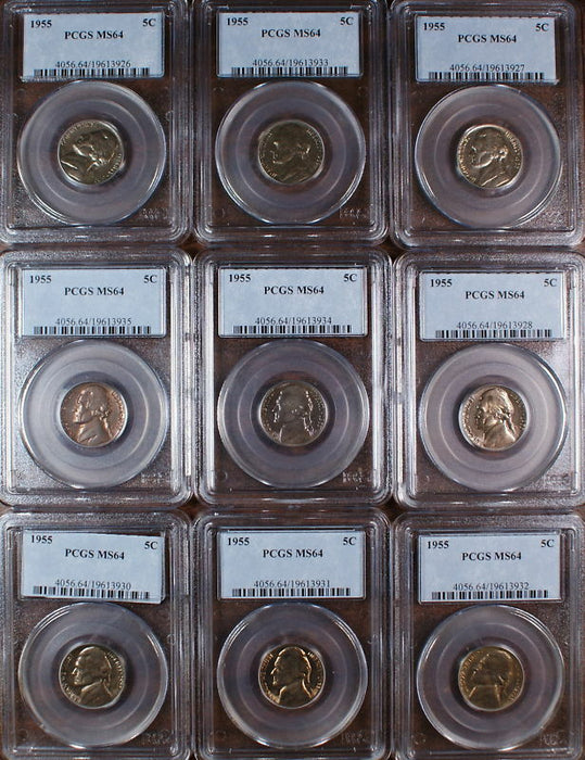1955 Jefferson Nickel Coin, PCGS MS-64, *PRICE FOR ONE COIN ONLY*