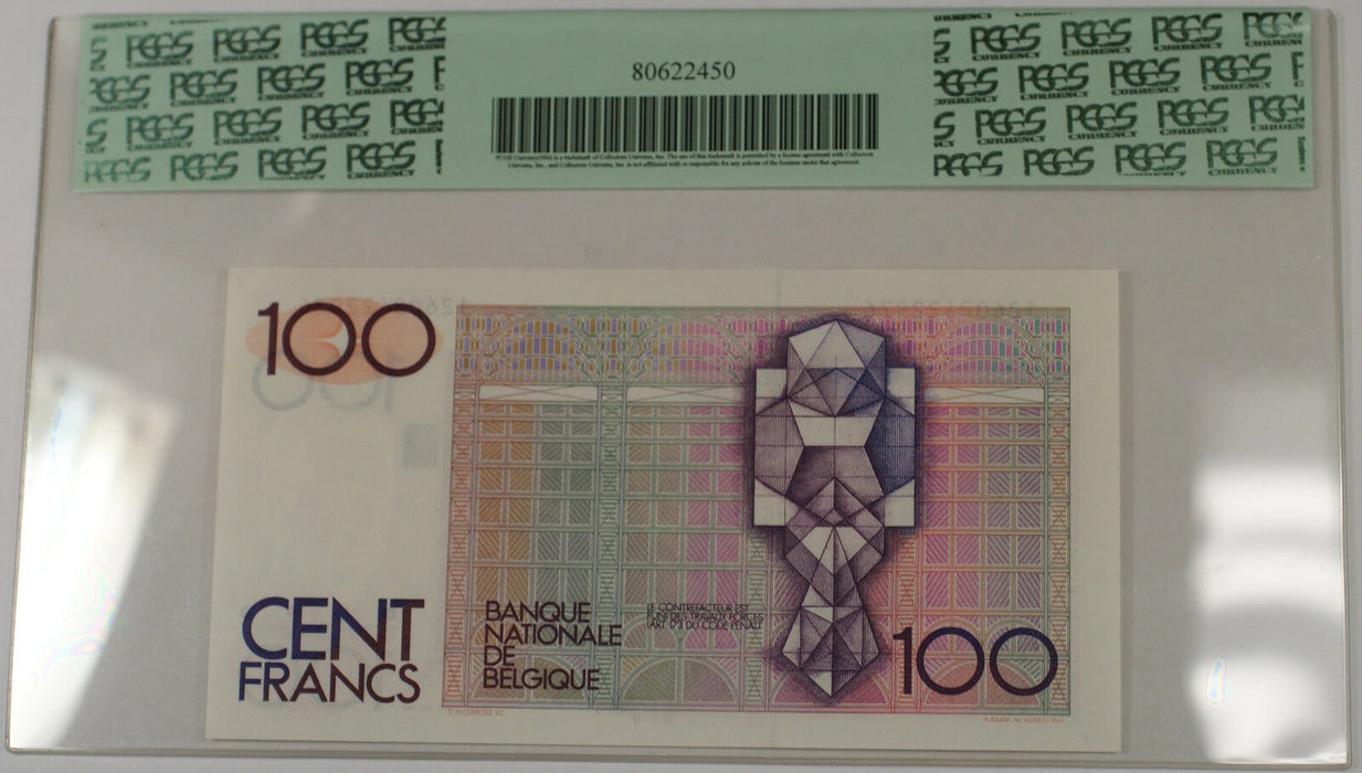 (1978-81) Belgium 100 Francs Note SCWPM# 140a PCGS 67 PPQ Superb Gem New