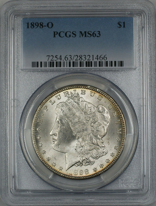 1898-O Morgan Silver Dollar $1 Coin PCGS MS-63 (4E)